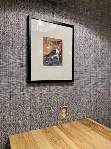 A photo frame inside Davis Farmland BBQ