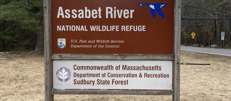 Sign for Assabet River Wildlife Refuge