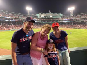 family at the red sox game